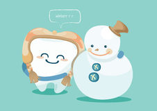 Winter of tooth Stock Image