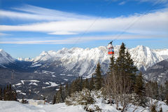 The winter top view of mountains Royalty Free Stock Photography