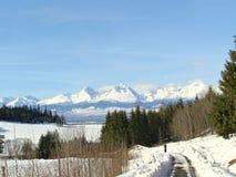 Winter tourism nature. Royalty Free Stock Photo