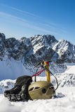 Winter tourist equipment Royalty Free Stock Images