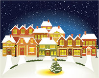 Winter town Royalty Free Stock Photo