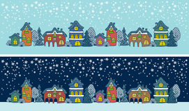 Winter town Stock Image