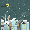 Winter town. Royalty Free Stock Image