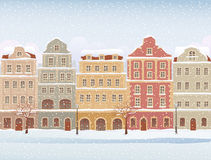 Winter town Royalty Free Stock Photos