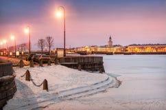 Winter town Stock Photo