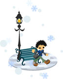 In the winter town Royalty Free Stock Image