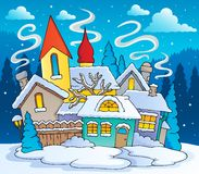 Winter town theme image 2 Stock Photo