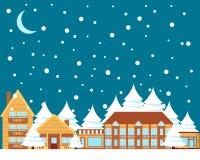 Winter town Stock Photos