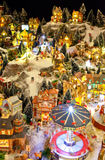 Winter toy village Royalty Free Stock Photography