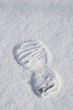 Winter trace of footwear on a snow Stock Image