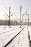 Winter Trackway Stockfotos