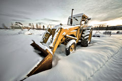 Winter tractor Stock Images