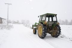 Winter tractor Royalty Free Stock Photo