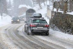 Winter_traffic Imagens de Stock
