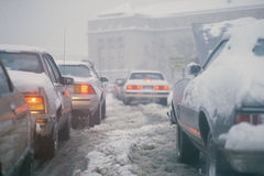 Winter traffic Royalty Free Stock Photography