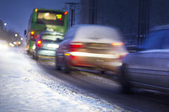 Winter traffic Royalty Free Stock Images