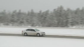 Winter Traffic stock video footage