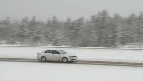 Winter Traffic stock video footage