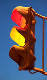 Winter traffic light Royalty Free Stock Photos