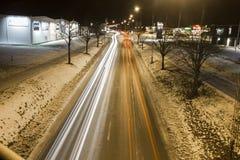 Winter traffic in Värnamo Stock Photography