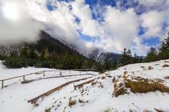 Winter trail in Tatra mountains. Poland Stock Photo