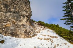 Winter trail in Tatra mountains. Poland Stock Photography