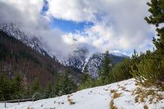 Winter trail in Tatra mountains. Poland Royalty Free Stock Photo