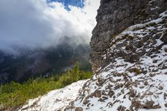 Winter trail in Tatra mountains. Poland Stock Images