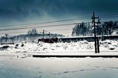 Free Winter Train Stock Image - 18006791