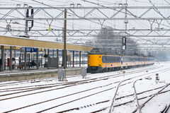 Winter train Royalty Free Stock Images