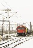 Winter train Stock Photo
