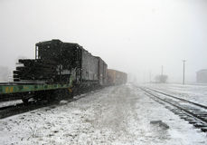 Winter Train Stock Photography