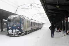 WINTER - TRAIN STATION Stock Image