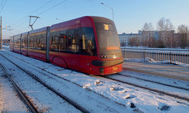 Winter tram. Stock Image