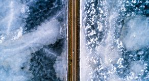 Winter transportation background stock photography