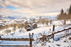 Winter in Transylvania Romania Stock Photo