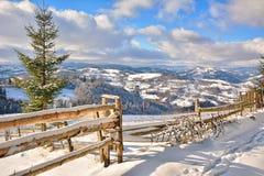 Winter in Transylvania Romania Stock Image