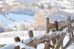 Winter in Transylvania Romania Royalty Free Stock Photos