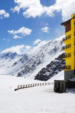 Winter travel place. In chile Stock Image
