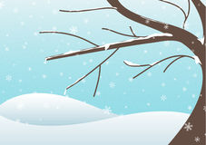 Winter tree illustration Royalty Free Stock Photography