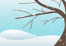 Winter tree illustration Royalty Free Stock Photography