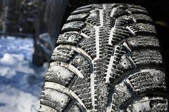 Winter tread wheel Stock Photo