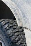 Winter tread wheels Stock Images