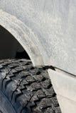 Winter tread wheels Stock Image