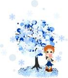 Winter tree-4 Stockfotografie