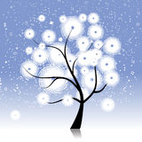 Winter tree beautiful Royalty Free Stock Photos