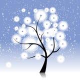 Winter tree beautiful stock illustration