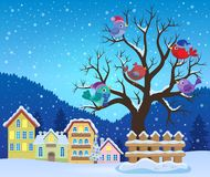 Winter tree with birds theme image 3 Royalty Free Stock Photo