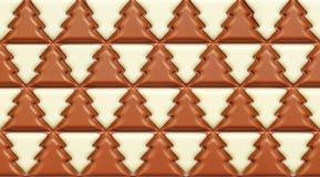 Winter tree chocolate Royalty Free Stock Photo