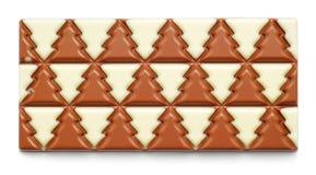 Winter tree chocolate stock image
